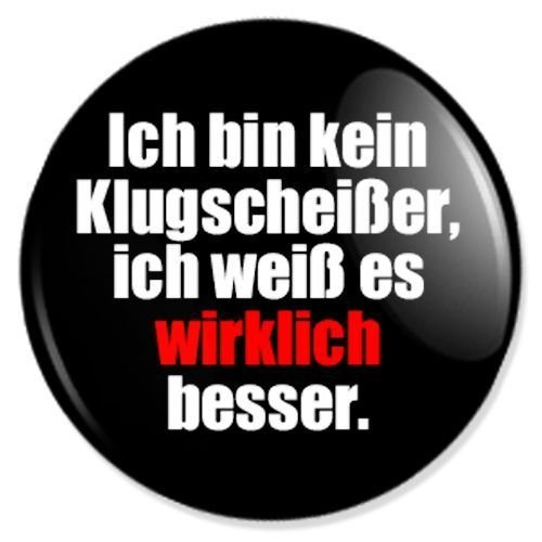 Klugscheisser Button