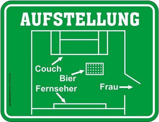 Fußballaufstellung