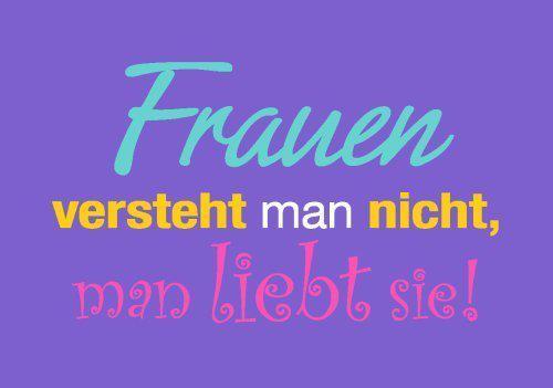 Frauen versteht man nicht   spruechetante.de