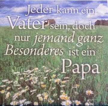 Jeder kann ein Vater sein, doch … | spruechetante.de