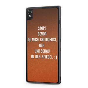 Stop! Bevor Du mich kritisierst, schau in den Spiegel.