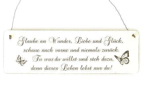 Glaube an Wunder, Liebe und Glück ... (Türschild Shabby Vintage)