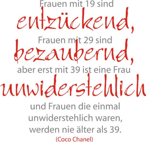 a3b6342b35f4ca Frauen mit … Coco Chanel Zitat (Wandtattoo) | spruechetante.de