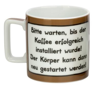 Bitte warten bis der Kaffee erfolgreich installiert wurde! Der Körper kann dann neu gestartet werden! (Sheepworld Tasse)