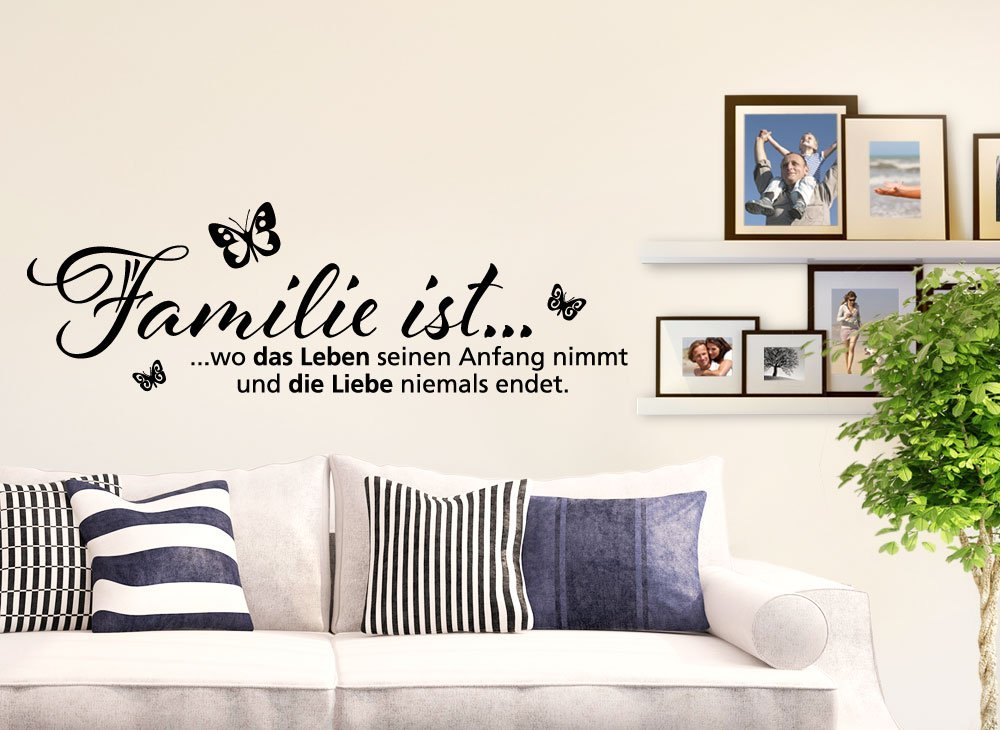 wandtattoo spruche familie wandtattoo hausordnung fr die ganze familie das bild wird geladen. Black Bedroom Furniture Sets. Home Design Ideas