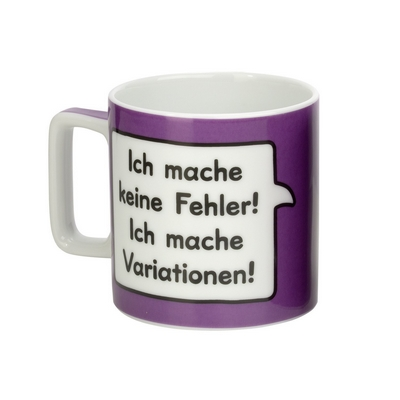 ich mache keine fehler ich mache variationen sheepworld tasse. Black Bedroom Furniture Sets. Home Design Ideas