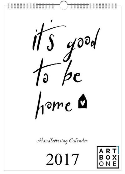 wandkalender 2017 handlettering kalender mit 12. Black Bedroom Furniture Sets. Home Design Ideas