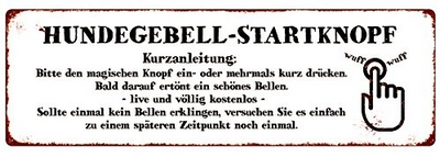 Hundegebell Startknopf - Kurzanleitung