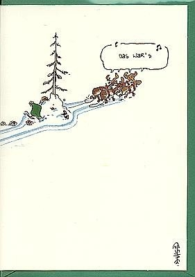Weihnachtskarte Das war's