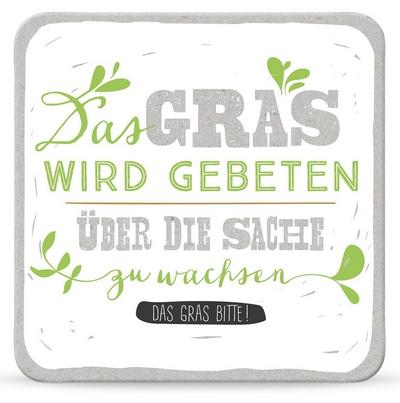 Das Gras wird gebeten über die Sache zu wachsen Das Gras bitte!