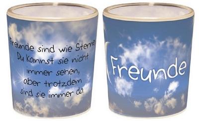 Freunde sind wie Sterne, Du kannst sie nicht immer sehen, aber trotzdem sind sie immer da.