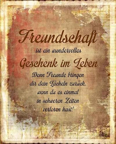 Freundschaft ist ein wundervolles Geschenk im Leben. Denn Freunde bringen dir dein Lächeln zurück, wenn du es einmal in schweren Zeiten verloren hast!