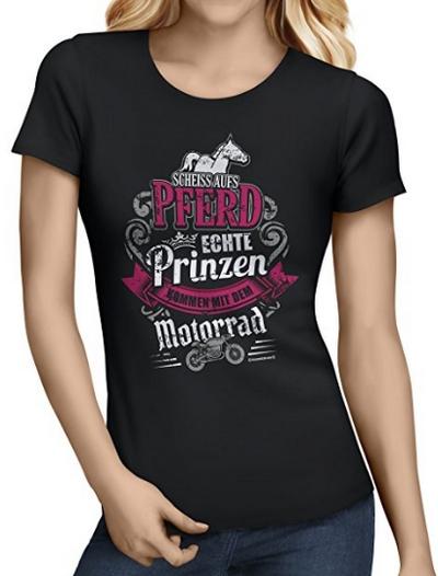 Scheiss aufs Pferd echte Prinzen kommen auf dem Motorrad (Biker Shirt)