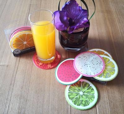 Silikon-Frucht-Scheibe Allwetter-Bierdeckel