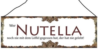 Wer Nutella noch nie mit dem Löffel gegessen hat, der hat nie gelebt!