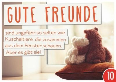 gute freunde sind ungef hr so selten wie kuscheltiere die. Black Bedroom Furniture Sets. Home Design Ideas