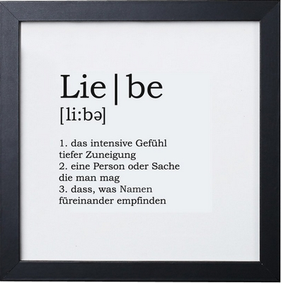 Lie be - Definition Liebe