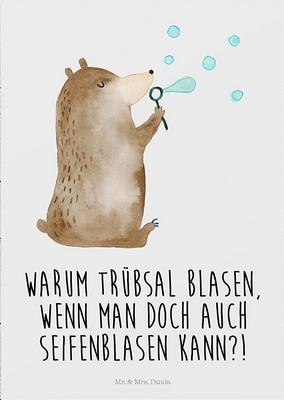Warum Trübsal blasen, wenn man doch auch Seifenblasen kann?!