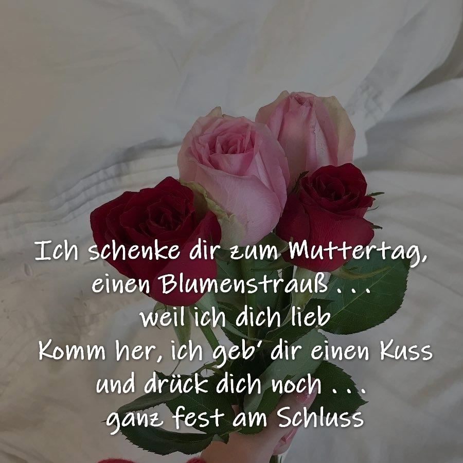 Ich schenke dir zum Muttertag, ein Blumenstrauß . . . weil ich dich mag Komm her, ich geb' dir einen Kuss, und drück dich noch . . . ganz fest am Schluss