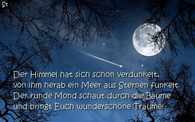 Gute Nacht Gedicht