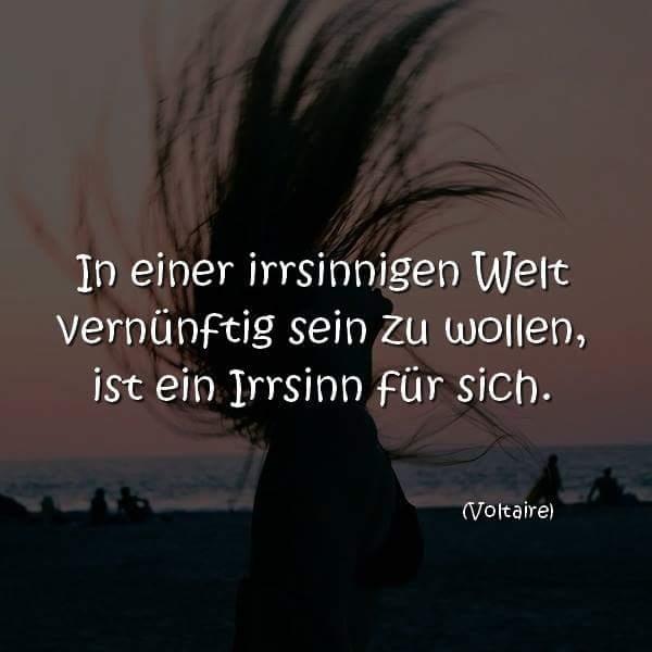 In einer irrsinnigen Welt vernünftig sein zu wollen, ist ein Irrsinn für sich. (Voltaire)